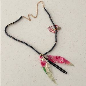 Johnny Was Necklace with floral design charm